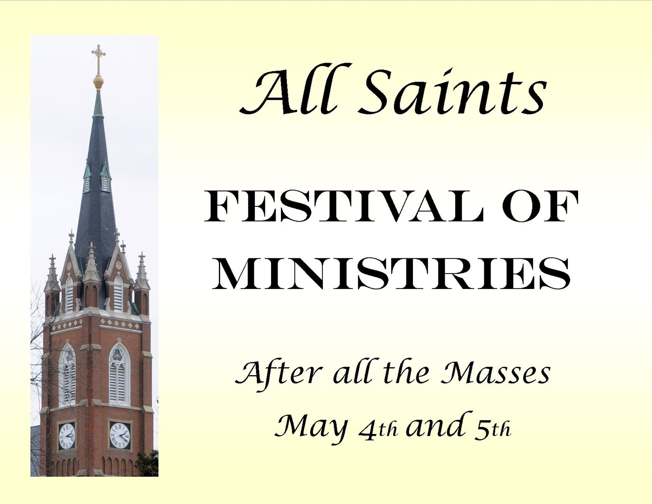 Festival of Ministries
