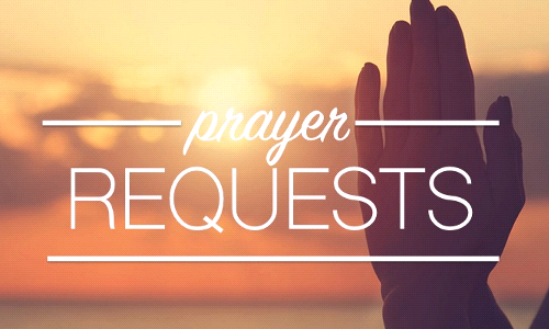 Send in your Prayer Requests